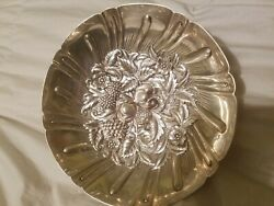 S. Kirk And Son Sterling Silver Repousse Fruit Bowl