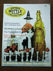 Antique Bottle And Glass Collector Magazine October 2002 Vol. 19 No. 6