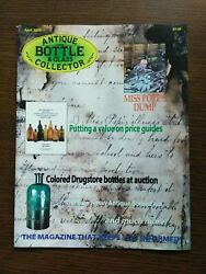 Antique Bottle And Glass Collector Magazine April 2009 Vol. 25 No. 12