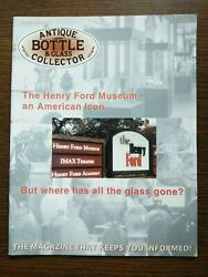 Antique Bottle And Glass Collector Magazine September 2007 Vol. 24 No. 5