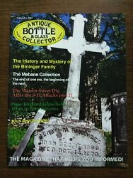 Antique Bottle And Glass Collector Magazine September 2002 Vol. 19 No. 5