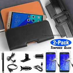 Leather Carrying Pouch Case Cover For Samsung Galaxy J7 2018/star/crown/aura/top