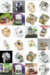 Wholesale Lot 200 Pes Solid 925 Sterling Silver Spinner Ring Size All
