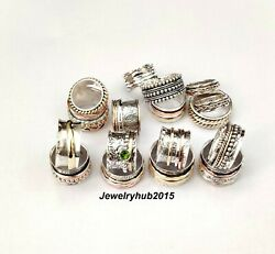 Wholesale Lot 150 Pes Solid 925 Sterling Silver Spinner Ring All Size Us Sr233
