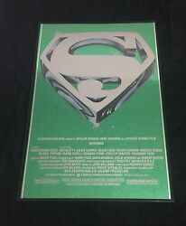 Movie Poster Superman The Movie 1978 Mylar 21x30 Nm 9.4 Christopher Reeve