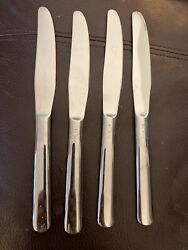 4 Vintage Never Used Usn Us Navy Silco Stainless Knives