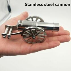 Stainless Steel Napoleon Cannon Miniature Artillery Kit For Collection