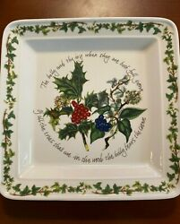 Portmeirion The Holly And The Ivy Square Salad Plate 6160016 Christmas Ivy Berry