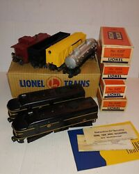Lionel 2032 Erie Train Set 1952-1954 With 6456, 6656, 6357, 6465, Instructions