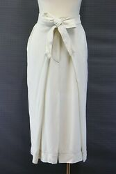 Nwt 1495 Brunello Cucinelli Womens Slit Front Skirt With Sash Ties 42/ 6us A176
