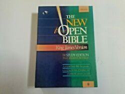 The New Open Bible Kjv Red Letter Cyclopedic Index Study Edition Black Bonded