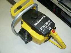 Vintage Mcculloch Mac 10-10 Automatic Chainsaw For Parts Or Repair