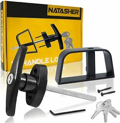 Natasher 4-1/2 T-handle Lock Kit With 4 Keys And 2 Screws, Black Shed Door L...