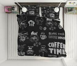 3d Coffee Shop Nao11120 Bed Pillowcases Quilt Duvet Cover Set Queen King Fay