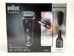Braun Series 9 Sport 9310cc Wet And Dry Clean And Charge System Special Edition