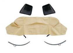 Fiat 124 Spider Tarpaulin Beige Soft Top Cover + Metal And Plastic Hooks 1966-82
