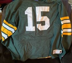 Vintage Throwback Collection Champion Green Bay Packers Bart Starr 15 Xxl Jersey