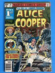 Marvel Premier #50 1979 Alice Cooper First Comic Appearance Great Copy