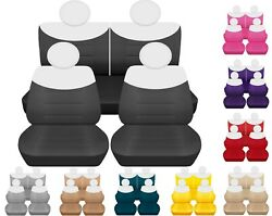 Front And Rear Car Seat Covers Fits Fiat 500 Poploungeabarth 09-19 Nice Colors