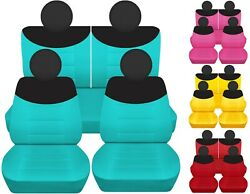 Front And Rear Car Seat Covers Fits Fiat 500 Abarthloungepop 09-19 14 Colors