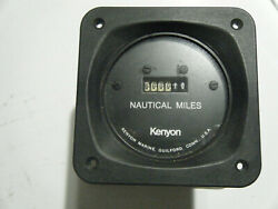 Vintage Kenyon Marine Nautical Miles Guage Replacement For A Yacht Boat Ship