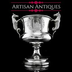 A Georgian Solid Silver Cup/goblet/trophy With Napoleonic Military Interest