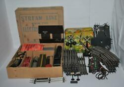 Vintage Marx Steam Line Electric Train Set No 25000 + Track Tunnel Crossing