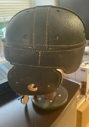 Antique Leather Dog Ear Style Football Helmet Wright And Ditson 1920's Mint