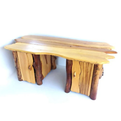Handmade Bespoke Wooden Writing Office Desk And Cupboards Rustic Sustainable Wood