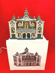 Dept 56 Christmas In City Grand Central Railway 58881 W Box, Light And 2 Lanterns