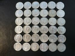 Silver- 1964 Kennedy Half Dollars 36 18.00 Face Value All Are Uncirculated