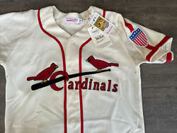 Authentic Mitchell And Ness Mandn 1944 St. Louis Cardinals Stan Musial Jersey 44