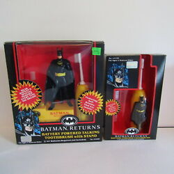 Batman Returns Battery Powered Talking Toothbrush W/ Stand Additional Toothbrush