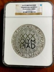 2012 Great Britain 500 Pounds London Olympics Huge Kilo 999 Silver Coinngc Pf69