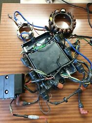 Cdi Unit Coils Yamaha Outboard 150 175 200 Hp Ecu Ignition System Stator And03996-and03901