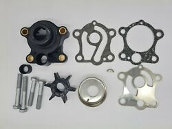 Water Pump Impeller Kit And Housing Yamaha 50 55 Hp 2 Stroke Outboard 55b 60c `663