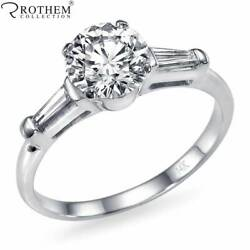 Andpound7600 1.31 Ct 3 Stone Diamond Engagement Ring 14ct White Gold Si2 E 51396218