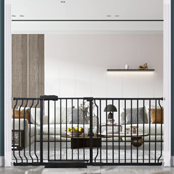 Hoooen Extra Wide Baby Gate Extra Wide Extra Tall Dog Gates For Stairs Doorways
