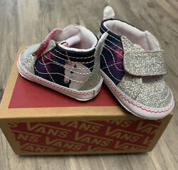 Vans off the wall Baby Girl Glitter unicorn size 1 Shoes Spectacular 🦄 No Box