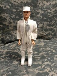 Vintage 1969 Gi Joe Painted Hair Talking Astronaut With Jumper And White Cap