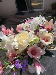 Lot Of Artificial Flowers. Nwt. Includes 5 Sprigs Of Crystals And 7 Of Pearls.