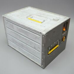 Lufthansa Aluminium Container With 50 Glasses Lh343-4000 +4010 Trolley 1.aio
