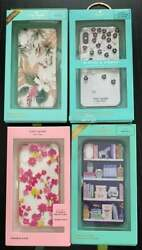 Kate Spade Iphone X And Xs Cases / Covers Set Of 4 Colorful Bedazzled With Boxes