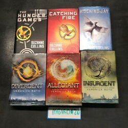 Hunger Games Divergent Book Mix Lot Of 6 Suzanne Collins Veronica Roth Hardcover