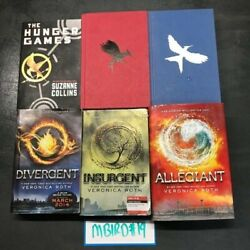 Hunger Games Divergent Book Mix Lot Of 6 Veronica Roth Suzanne Collins Hc/pb