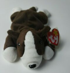 Ty Beanie Babies Collection Retired Bruno The Dog September 91997 Rare Errors