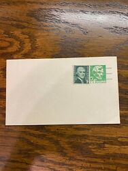 One Abraham Lincoln 5 Cent Postcard And One Thomas Jefferson 1 Cent Stamp