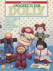 1985 Vintage Crochet Clothes For Soft Sculpture Cabbage Patch Doll Pattern Book