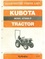 Kubota 7100d-p Shop Manual And Illustrated Parts List In English And French Digital