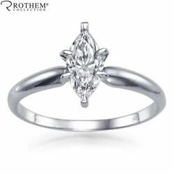 Andpound5200 1.01 Ct Marquise Diamond Ring Solitaire 14ct White Gold Si2 J 49845680